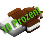 Android 4.0 Ice Cream Sandwich läuft auf 10 Prozent aller Geräte