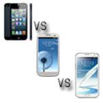 Gigantenduell: iPhone 5 vs Galaxy S3 vs Galaxy Note 2