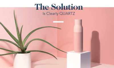 Quartz water bottle is world's first self-cleaning bottle