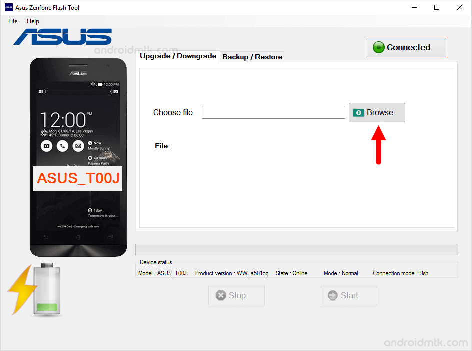 asus zenphone flash tool browse