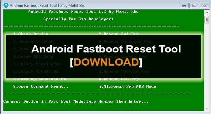 Android Fastboot Reset Tools
