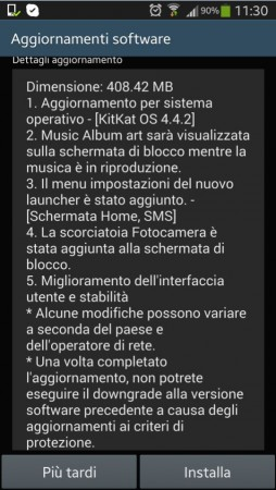 changelog galaxy note 3