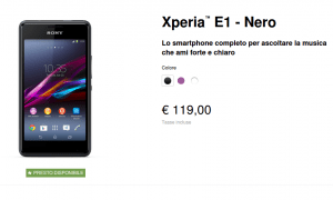 Sony Xperia E1 - shop
