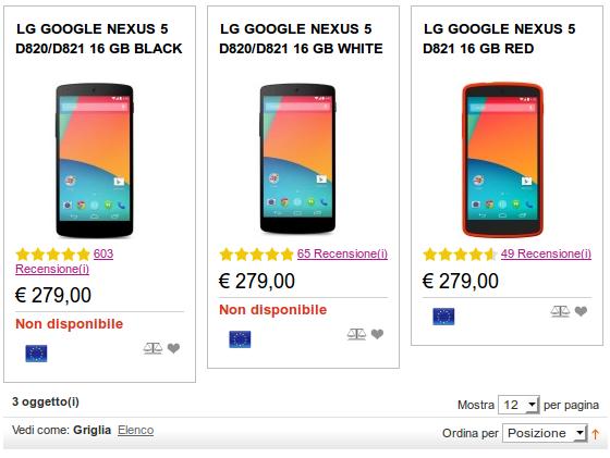 LG Google Nexus 5 da 16 GB