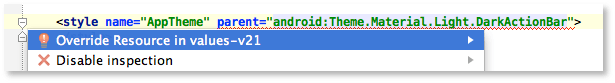 Android Studio Beta quickfix