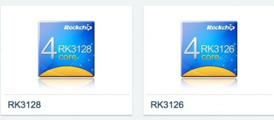 SoC Rockchip RK3128 e SoC Rockchip RK3126