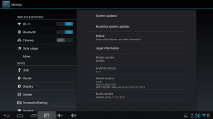 MK808B Settings Screen