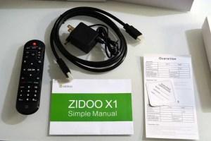 Zidoo X1 unboxing contents