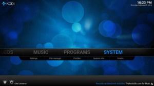 Kodi-System-menu