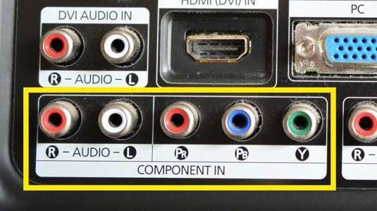 Component video connections