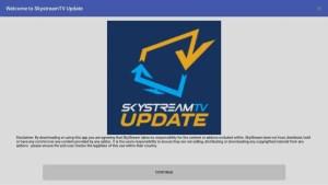 SkyStream Updater app