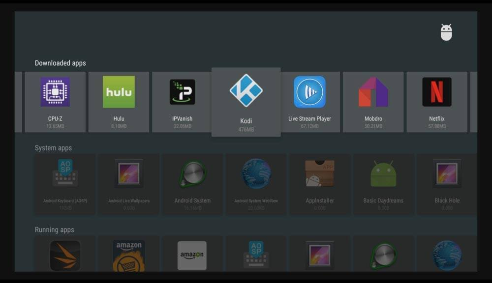 How do I reset Kodi on Android box - Downloaded apps
