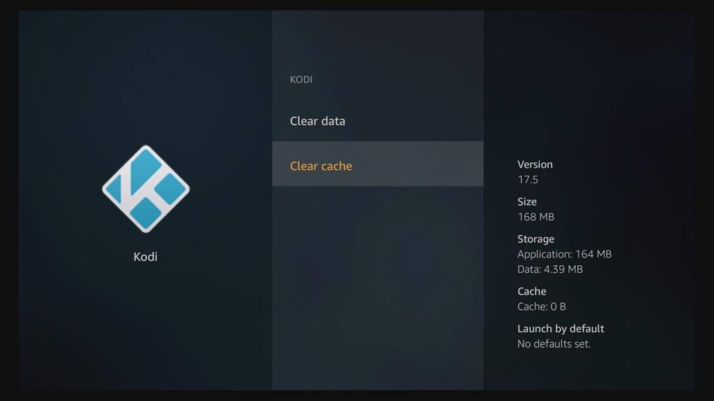 How to reset Kodi on Fire TV - Clear Cache