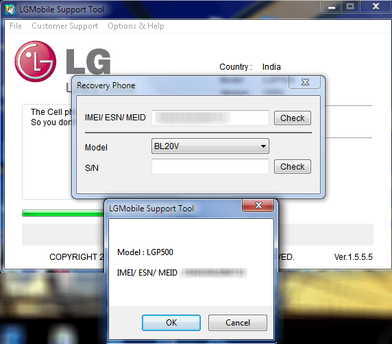 Unbrick LG Phone IMEI