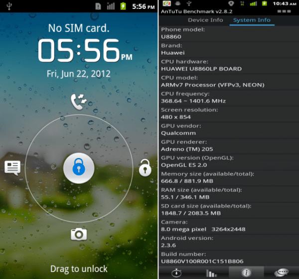 Huawei Honor Specification lock screen e