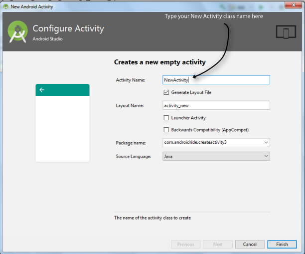 How to create another activity in Android Studio - AndroidRide