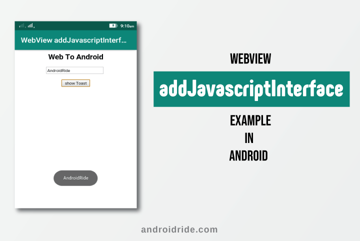 webview addjavascriptinterface example in android