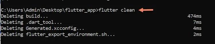 flutter clean