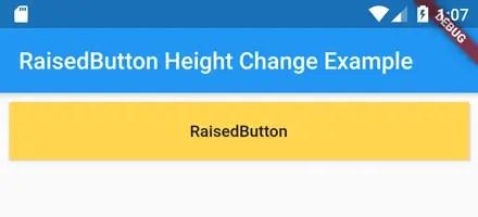 flutter raisedbutton height width