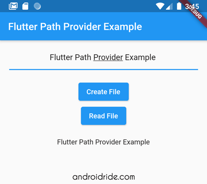 path_provider example - Create File
