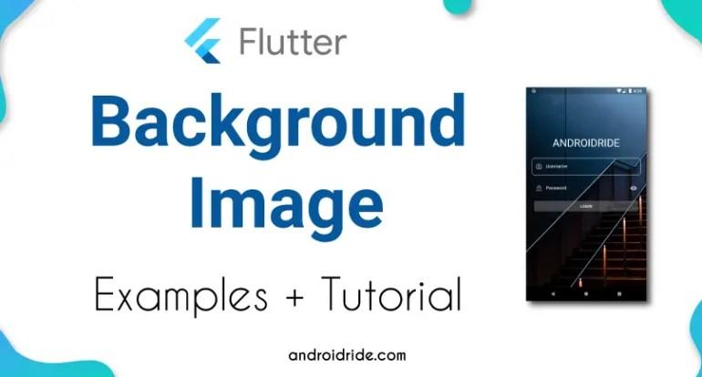 Flutter background image example