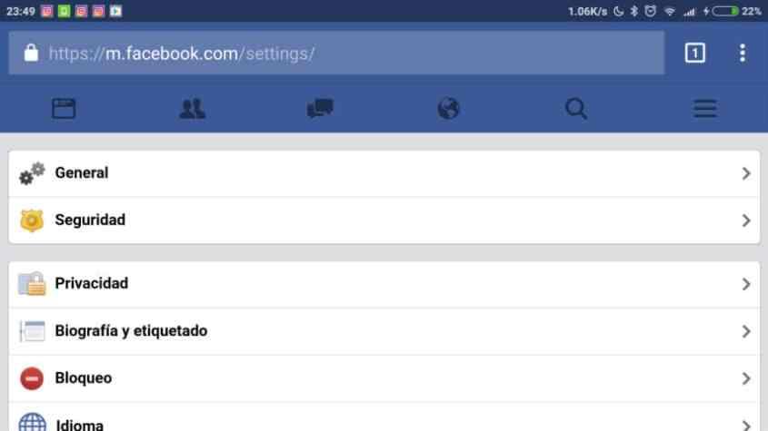 Facebook en el navegador del movil (6)