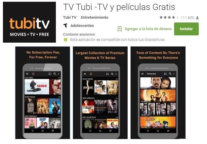 TUBI TV películas online gratis