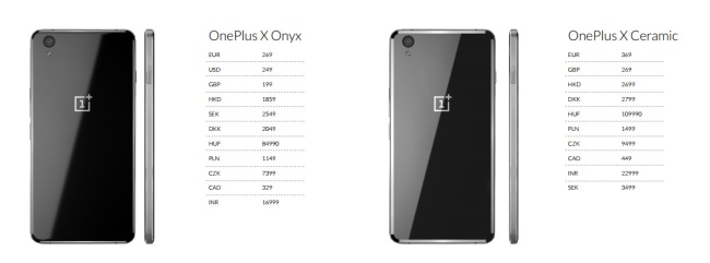 OnePlus X Pricing