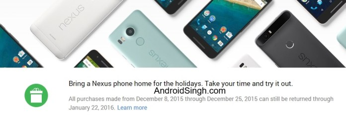 Google Store Nexus Phone Extended Return
