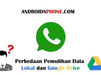 Perbedaan Pemulihan Chat Lokal dan Google Drive Pada Whatsapp