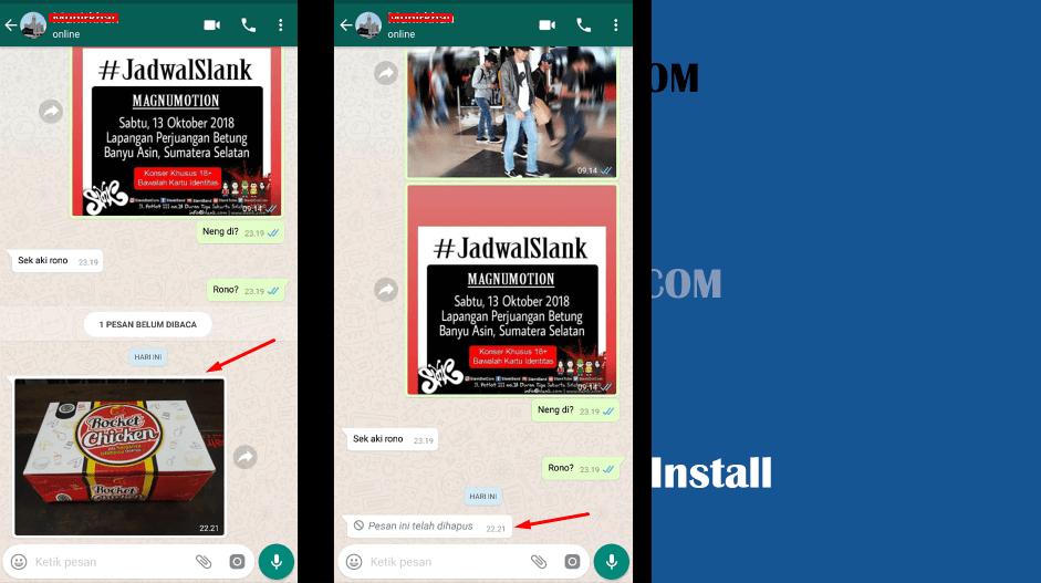 Cara Menghapus Foto Video Yang Sudah Terkirim ke Teman di Whatsapp