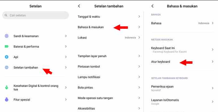 Cara Mematikan Suara Keyboard Saat Mengetik Xiaomi Redmi Note 8 dan 9