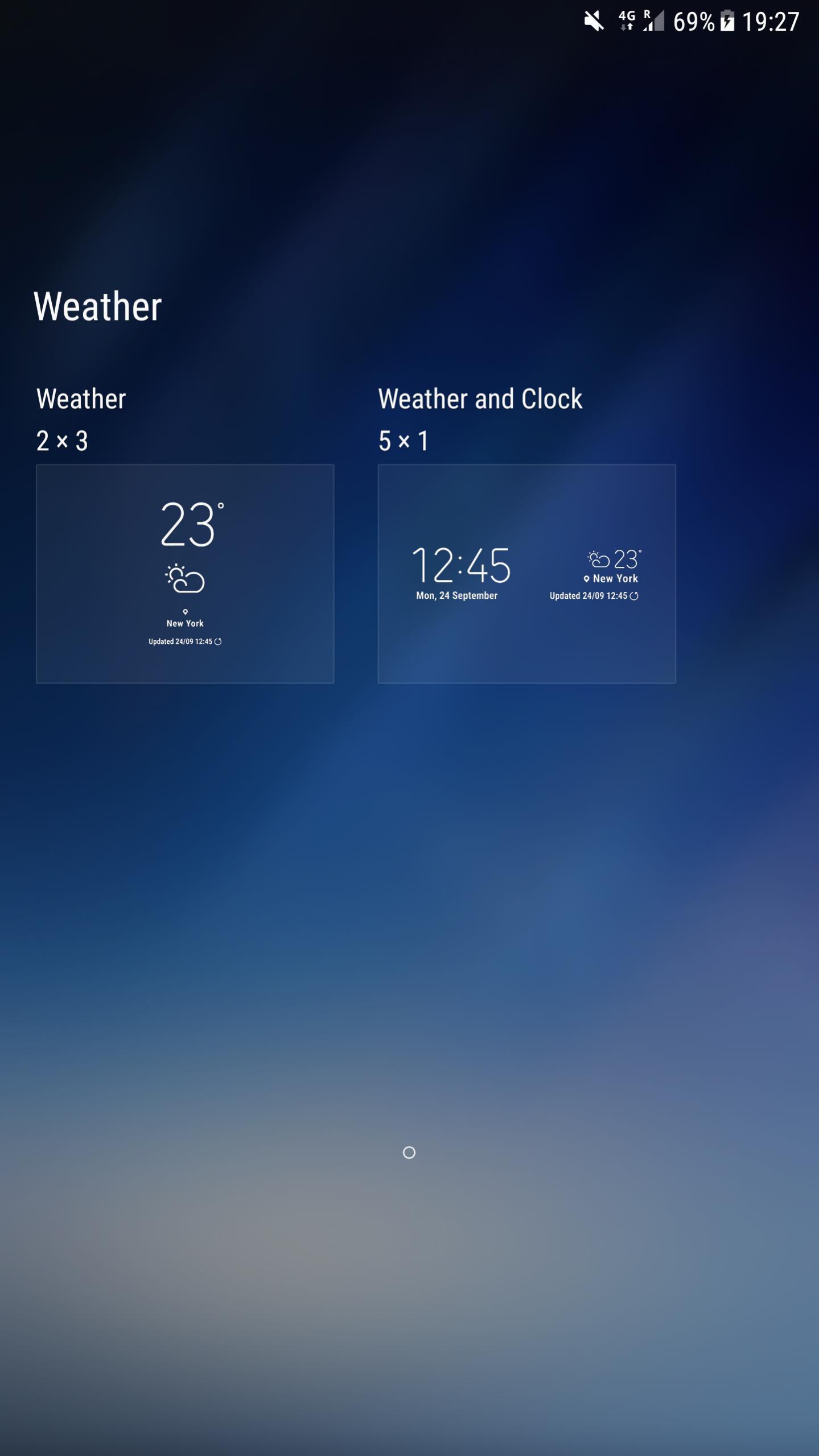 samsung s8 weather clock widget