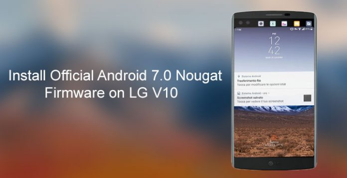 Lg v20 kdz | LG V20 F800L Android 7 0 Nougat Kdz Firmware Flash File