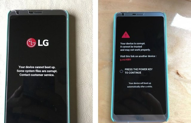How to fix LG G6 Device Corrupt Error
