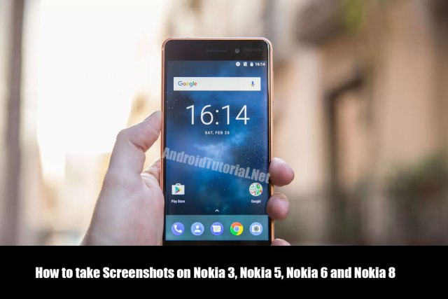 How to take Screenshots on Nokia 3, Nokia 5, Nokia 6 and Nokia 8