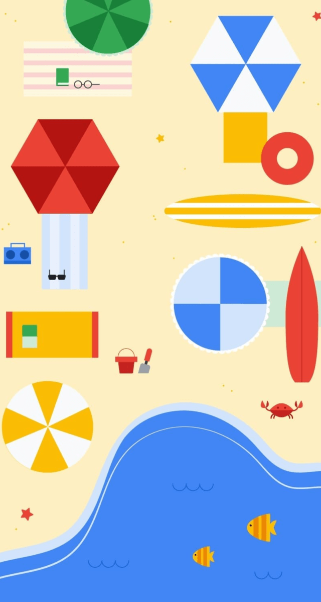 Google Spring 2018 stock wallpapers