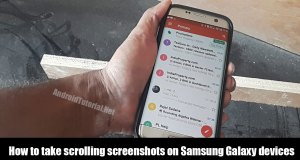 how to take scrolling screenshots on Android