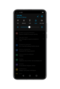 Dark theme for Huawei and Honor devices