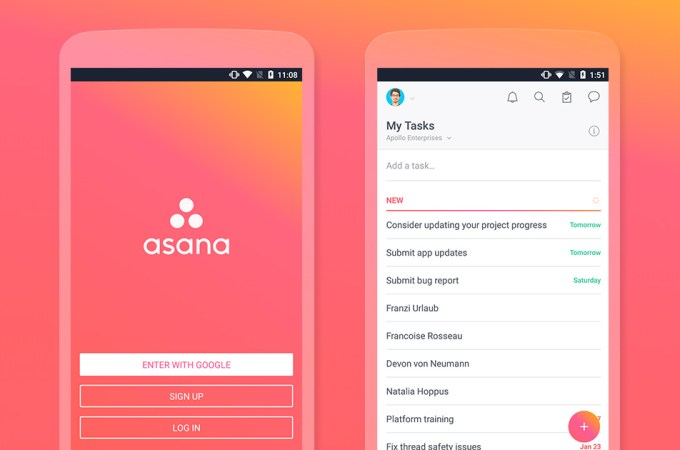 asana project management app