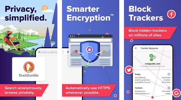 en güvenilir tarayıcı uygulamaları DuckDuckGo Privacy Browser 2020