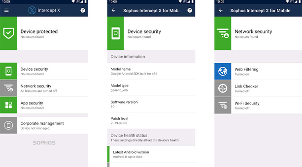 android telefon temizleme uygulaması Sophos Intercept X 2020
