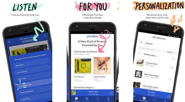 Pandora Müzik en iyi müzik uygulaması