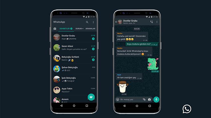 WhatsApp Karanlık Mod Açma