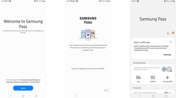 Samsung Pass Gibi OEM Çözümleri