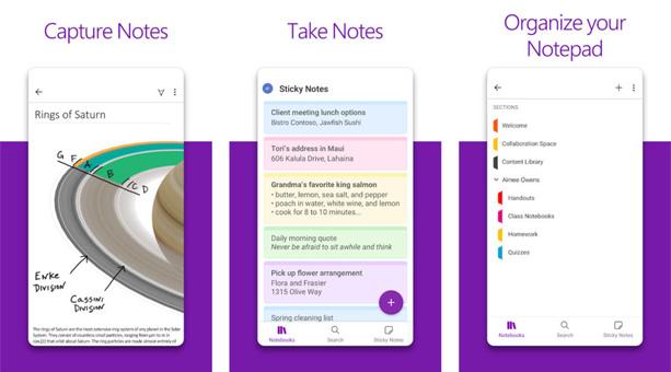 en popüler not alma uygulaması Microsoft OneNote