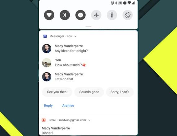 android pie smart replies xperia xz1