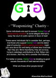 weaponizing charity