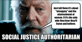 social justice authoritarian