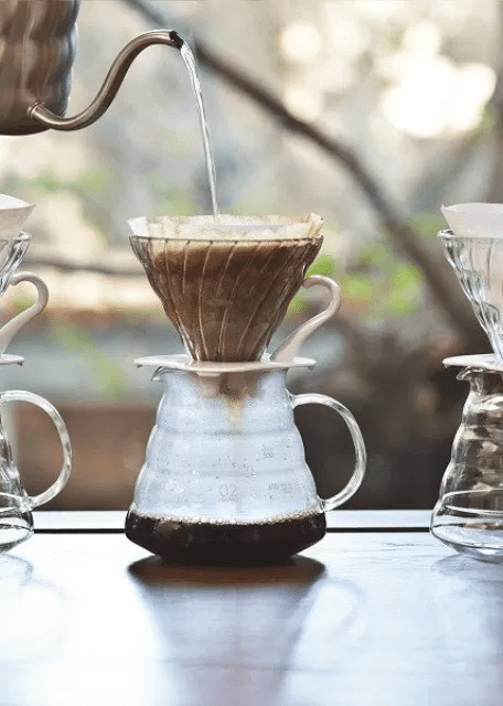 Glass Dripper Hario V60 + Range Server 800 ml